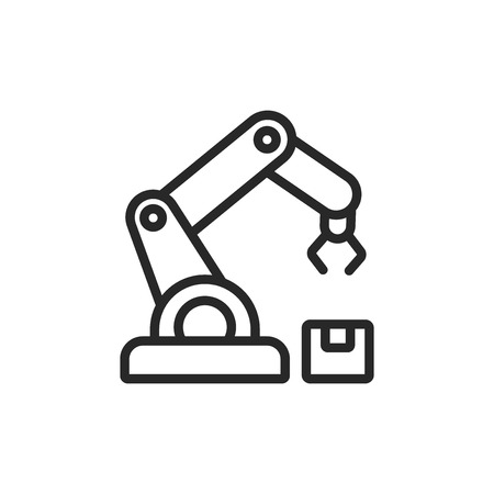 Robotic arm vector icon