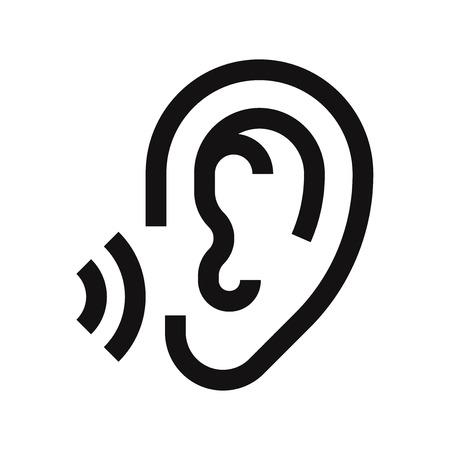 Ear icon vector Ilustrace
