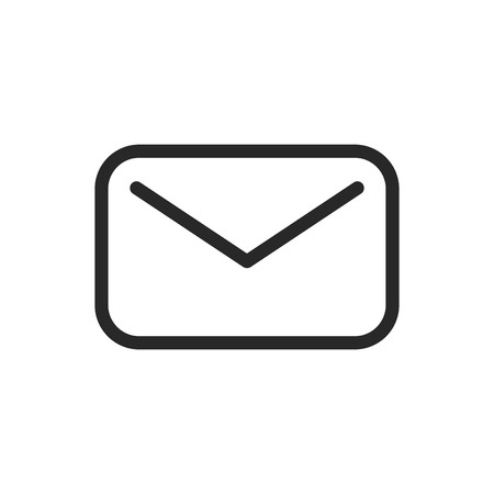 Mail vector icon Illustration