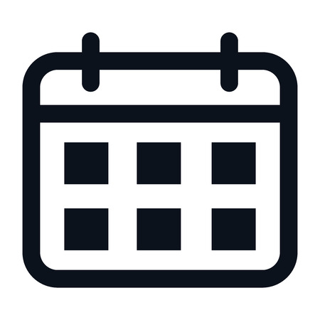 Calendar icon isolated on white background. Calendar icon in trendy design style. Calendar vector icon modern and simple flat symbol for web site, mobile app, UI. Calendar icon vector illustration, EP