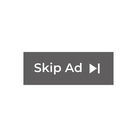 Saltar vector de botón de anuncio