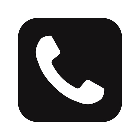 Telephone call button icon Illustration