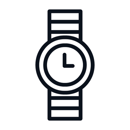 Watch icon isolated on white background. Watch icon in trendy design style. Watch vector icon modern and simple flat symbol for web site, mobile app, UI. Watch icon vector illustration, EPS10.