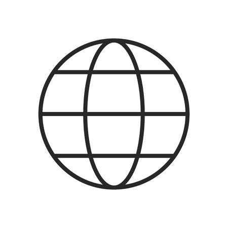 Globe icon vector, World sign Stockfoto - 122526384