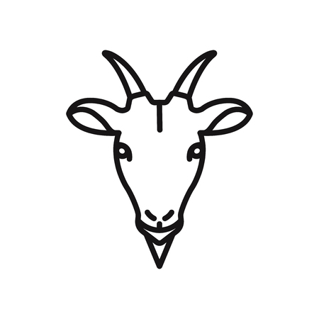 Goat head vector icon