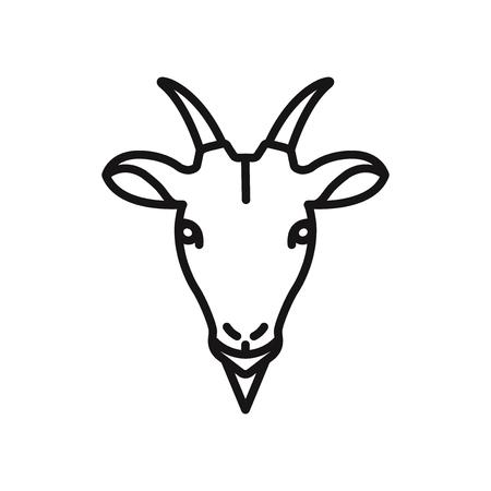 Goat head vector icon 写真素材 - 122815549