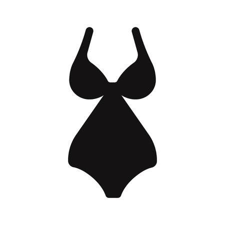 Woman swimsuit icon vector Stockfoto - 122815550