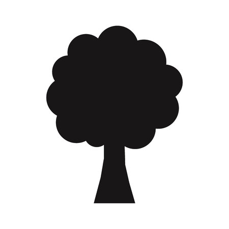 Tree icon vector Stock Illustratie
