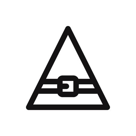 Elf hat icon Illustration