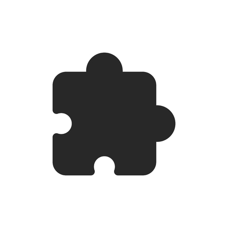 Puzzle vector icon Stock Illustratie