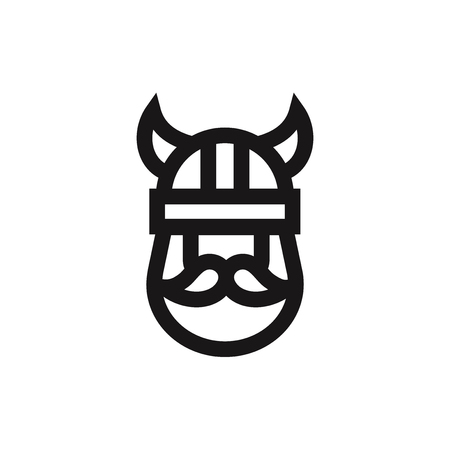 Viking icon vector 写真素材 - 122815574