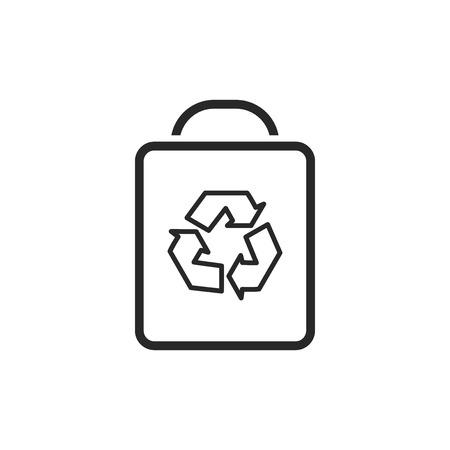 Recycle bag vector icon Stock Illustratie