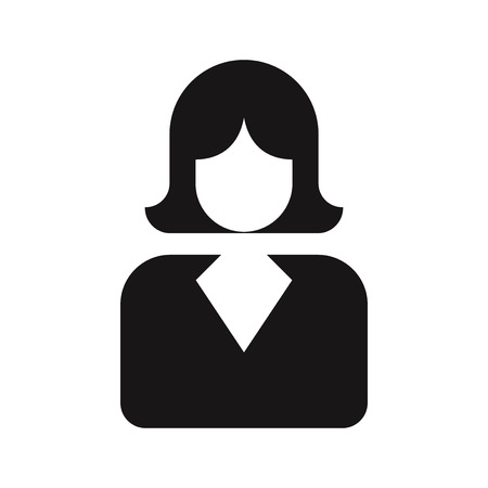 Business woman icon vector. Female,avatar symbol.