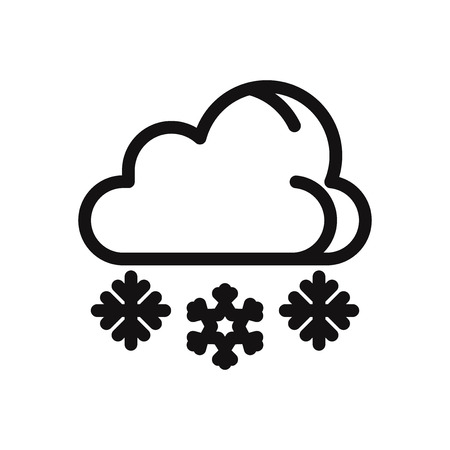Snowing icon. Winter,cold symbol