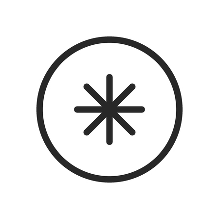 Asterisk icon vector