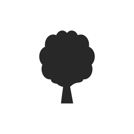 Tree vector icon Stock Illustratie
