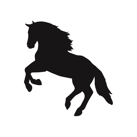 Horse jumping vector icon