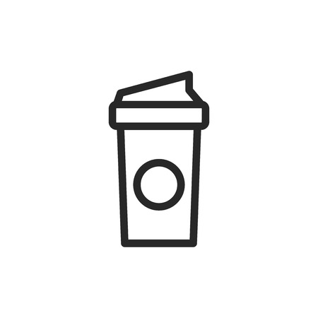 Coffee paper cup vector icon  イラスト・ベクター素材