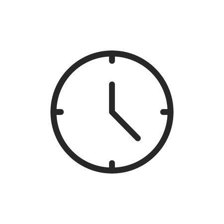 Clock vector icon Stock Illustratie