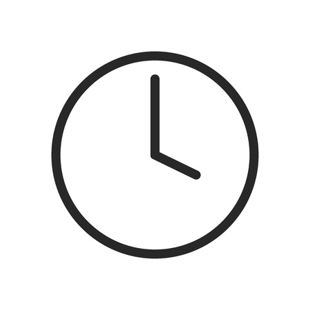 Time icon vector. Clock sign