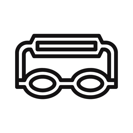 Goggles icon vector Stock Illustratie