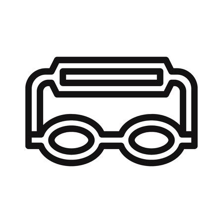 Goggles icon vector Illustration