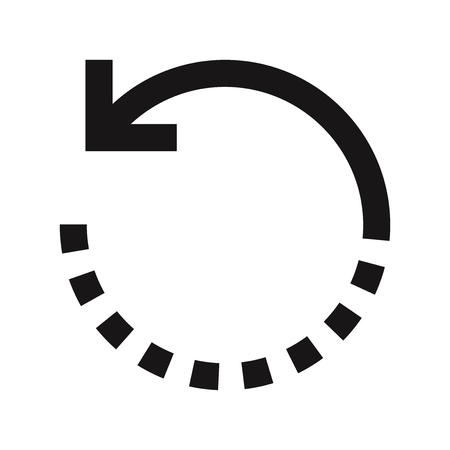 Rotate icon vector