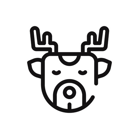 Deer vector icon Stockfoto - 122815772