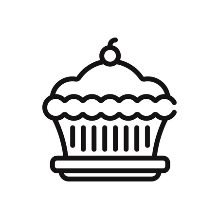 Pie vector icon Stock Illustratie