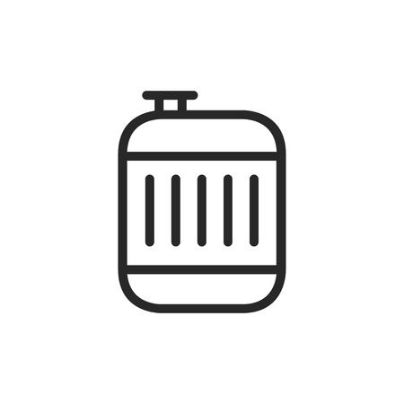 Jerrycan vector icon Stock Illustratie