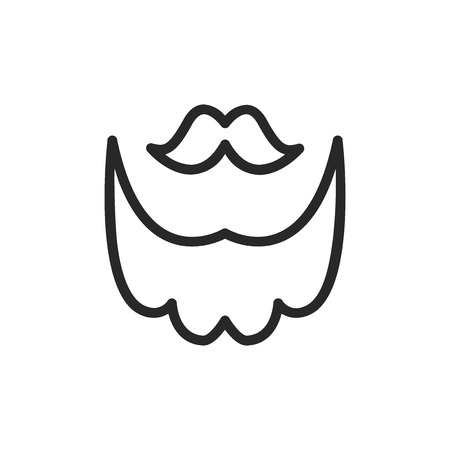 Mustache and beard vector icon