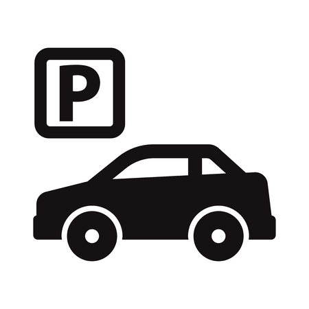 Parking icon vector Stock Illustratie