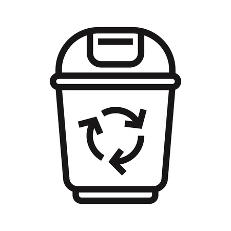 Recycle bin icon vector