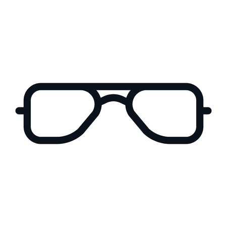 Glasses icon isolated on white background. Glasses icon in trendy design style. Glasses vector icon modern and simple flat symbol for web site, mobile app, UI. Glasses icon vector illustration, EPS10. Stock Illustratie