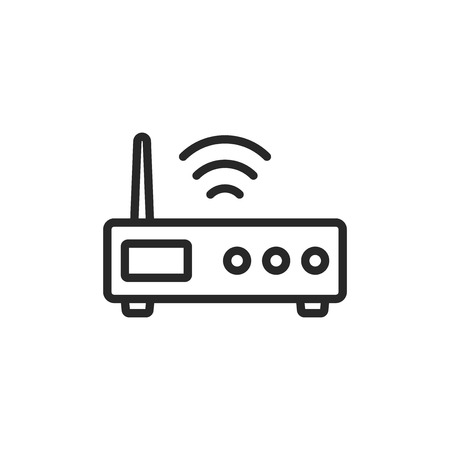 Router vector icon Stock Illustratie