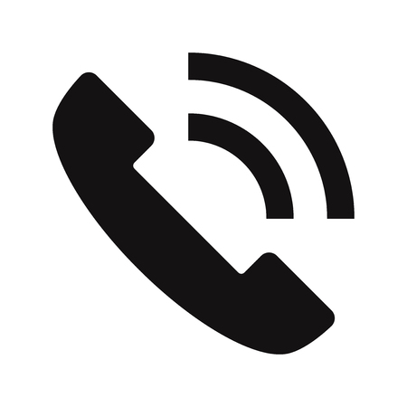 Telephone call icon vector