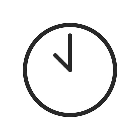 Time icon vector. Clock sign 写真素材 - 122816904