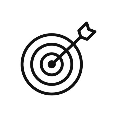 Target vector icon in modern design style for web site and mobile app