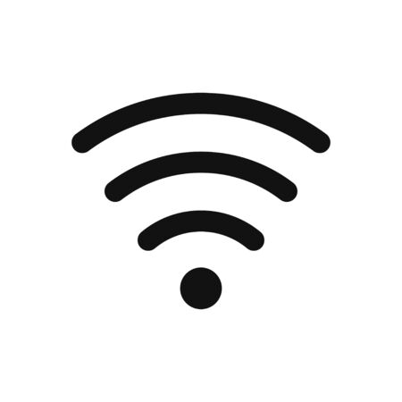 Wifi vector icon in modern design style for web site and mobile app