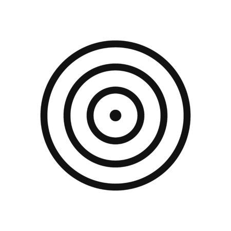 Dartboard vector icon in modern design style for web site and mobile app Vektorgrafik