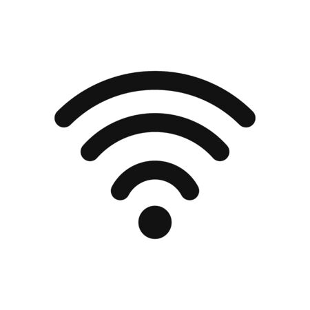 Wifi signal vector icon in modern design style for web site and mobile app 일러스트