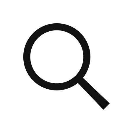 Search vector icon, magnifier glass symbol in modern design style for web site and mobile app