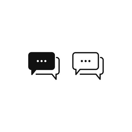 Speech bubble icon vector. Chat sign Vectores