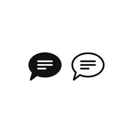Chat icon vector. Speech bubble sign