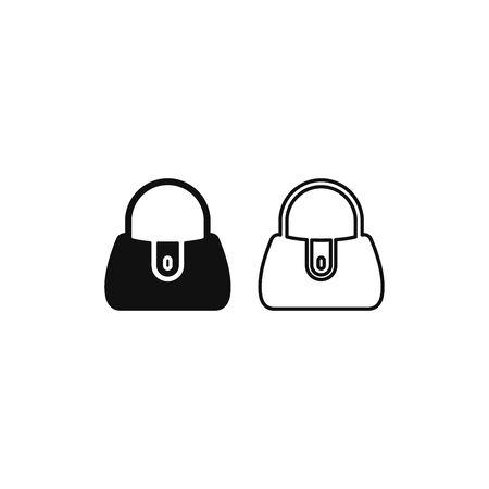 Handbag icon vector. Woman handbag sign