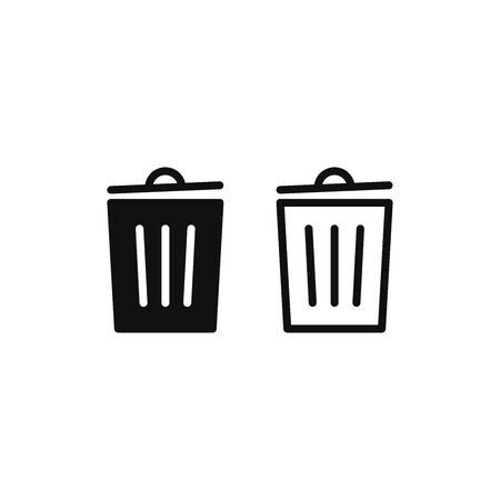 Trash can icon vector. Garbage sign Stockfoto - 148671634