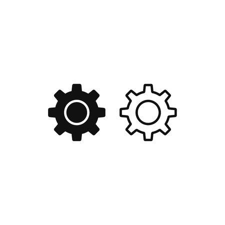 Settings icon vector. Gear sign Vectores