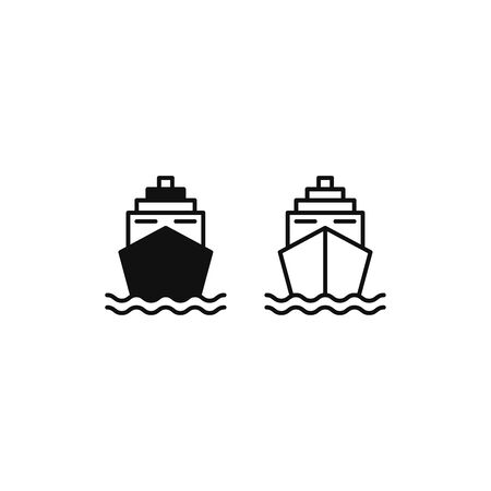 Ship icon vector. Cruise ship sign