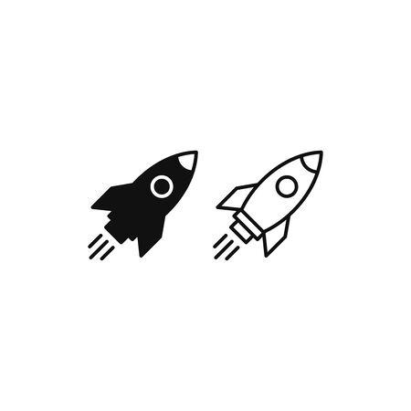 Rocket icon vector. Rocket launch sign