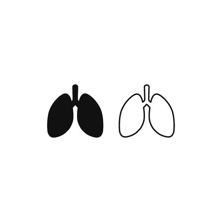 Lungs icon vector. Human internal organ sign